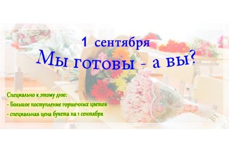 Расширение ассортимента и букеты даром на 1 сентября