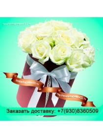 """Букет из белых роз """"Нежность"""""""