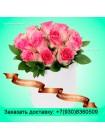 Отличный букет из роз в шляпной коробке