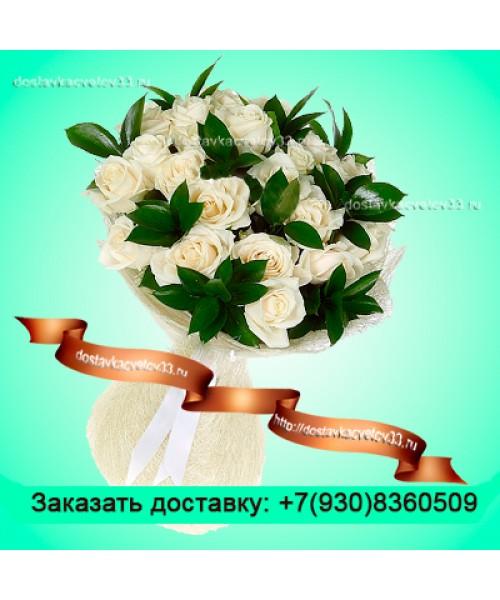 """Букет из белых роз (50 см) """"Нежный ангел"""""""