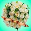 """Букет из белых роз """"Зимний вечер"""""""