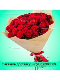 51 бордовая роза (60см)