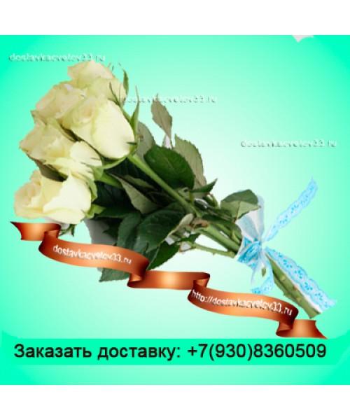 """Букет из белых роз (70см) """"Звездное небо"""""""