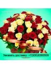 Корзина белых и красных роз - Это цветы к 23 февраля!!!